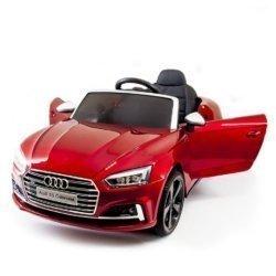 Детский электромобиль Audi S5 Cabriolet LUXURY (колеса резина, сиденье кожа, пульт, музыка, глянцевая покраска)