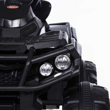 Электроквадроцикл Grizzly 2WD BDM0906 черный (АКБ 12v, колеса резина, сиденье кожа, пульт, музыка)